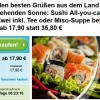 Sushi Deal in Frankfurt: Sushi All you can eat für 2 Personen für 17,90€