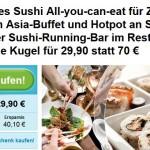 Sushi All-you-can-eat in Leipzig im Running Sushi Restaurant Goldene Kugel