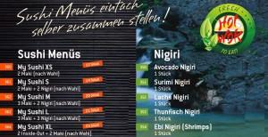 Hot Wok Sushi Lieferservice in München Sendling, der Sushi Express